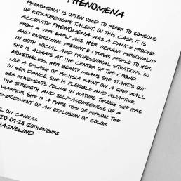 VAGNELIND Original - Line Bozetto - Phenomena