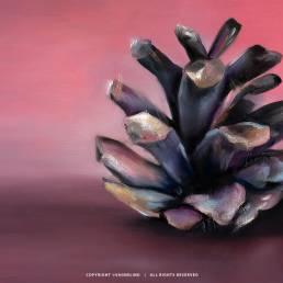 VAGNELIND Oil Painting - STROBILUS CORAL